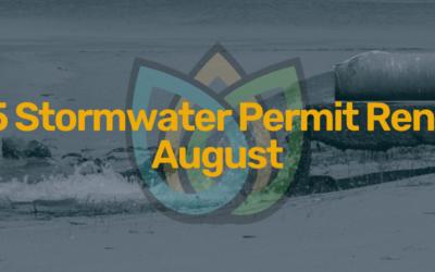TXR05 Stormwater Permit Renews Soon